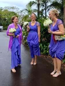 when wedding planning classic cars should always think of bridesmaids on a rainy day